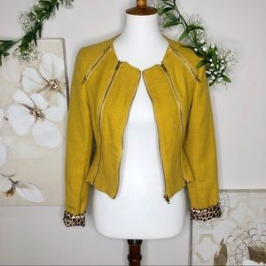 TOV Holy | Medallion Yellow Cheetah Lined Blazer